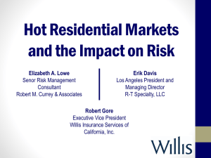 Hot Residential Markets and the Impact on Risk - Bob Gore