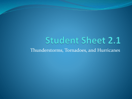 Student Sheet 2.1 Review