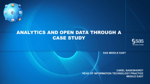SAS Visual Analytics Overview