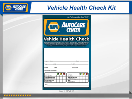 Vehicle Health Check Kit