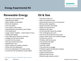 Energy Experimental Kit Renewable Energy