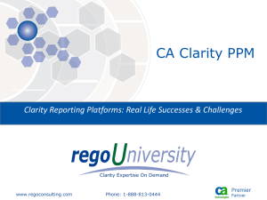 Clarity Reporting Platforms
