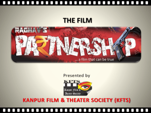 Raghav Tripathi - Welcomr to Kanpur film & theater society