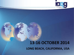 13-16 october 2014 long beach, california, usa
