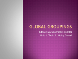 Powerpoint 3 Global groupings