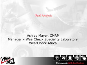 WearCheck Actual Diesel sampling tests and failure results over 6