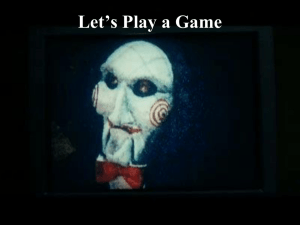 Let*s Play a Game