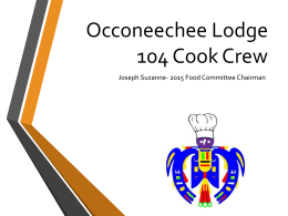 Cook Crew 101 - Occoneechee Lodge #104