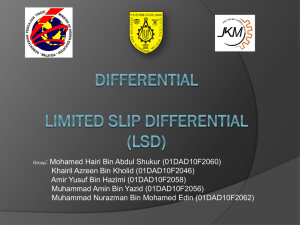 Differential Limited Slip Differential (LSD)