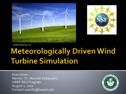 Evan Greer Final Presentation: Meteorologically Driven Wind
