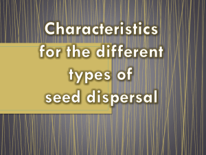 Characteristics for the different types of seed dispersal Contents