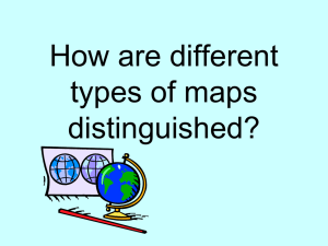What are different types of maps and how are they used?