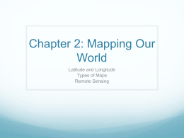 Chapter 2: Mapping Our World - Saluda County School District 1