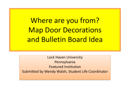 Where are you from? Map Door Decorations