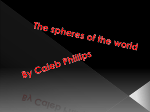 The spheres of the world caleb