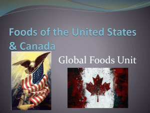 Ch. 48 Foods of the United States & Canada - MHS-AHCA