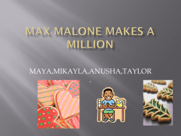 MAX MALONE Makes a Million - group 6