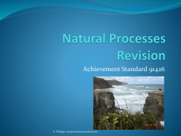 Natural Processes Revision