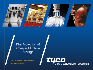 Tim Nichols, Tyco Fire Protection Products, UK - Welcome