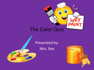 The Color Quiz - Elementary School Counseling
