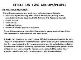 EFFECT ON THREE GROUPS/PEOPLE
