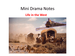 Primary Source Notes for Mini Dramas