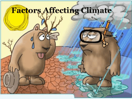 Factors Affecting Climate