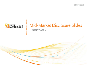 Office 365 for Mid-Market