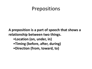 Prepositions - Morehead4thgrade