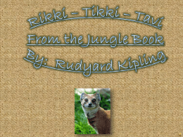 Rikki * Tikki * Tavi From the Jungle Book By: Rudyard Kipling