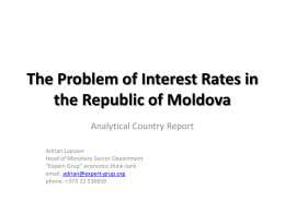 The Problem of Interest Rates in the Republic of Moldova