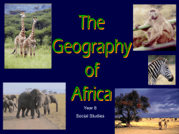 African Geography 2013-14