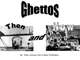 Ghettos Then and Now Powerpoint