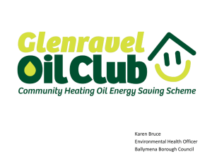 Glenravel Oil Club, Karen Bruce, Ballymena Borough Council