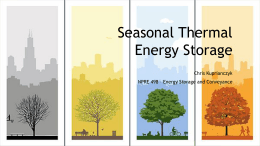 Seasonal Thermal Energy Storage (STES)