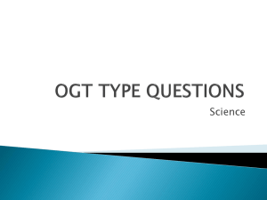 OGT TYPE QUESTIONS