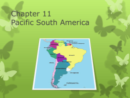Chapter 11 Pacific South America