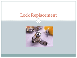 Lock Replacement - Multi-max