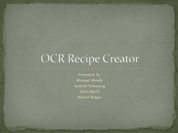OCR Recipe Creator