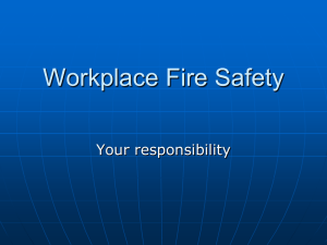 Workplace Fire Safety - Portage County Safety Council