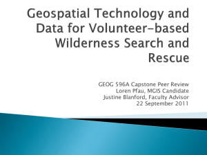 Search And Rescue: integrating Geospatial technology and data