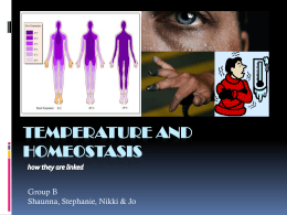 Temperature and Homeostasis