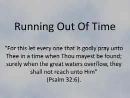 Running Out Of Time - Simple Bible Studies