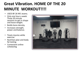 virtual tour - Great Vibrations