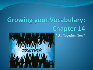 Growing your Vocabulary: Chapter 14