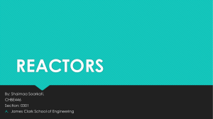 REACTORS - A. James Clark School of Engineering