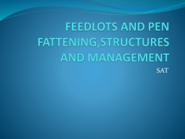 Feedlots And Pen Fattening Structures And Management SAT