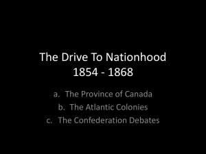 The Drive To Nationhood 1854