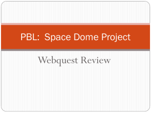 PBL: Space Dome Project