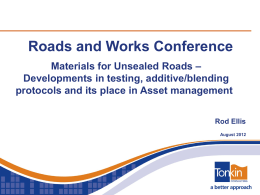 Roads and Works Conference - Local Government Association of